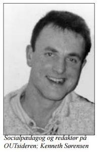 Kenneth Sørensen i 1996 som Socialpædagog på Tidsskriftet Outsideren