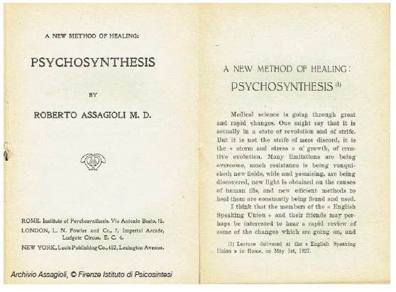 A new method of healing - Psychosynthesis