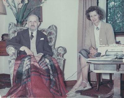Roberto Assagioli and Michael Eastcott at Sundial House
